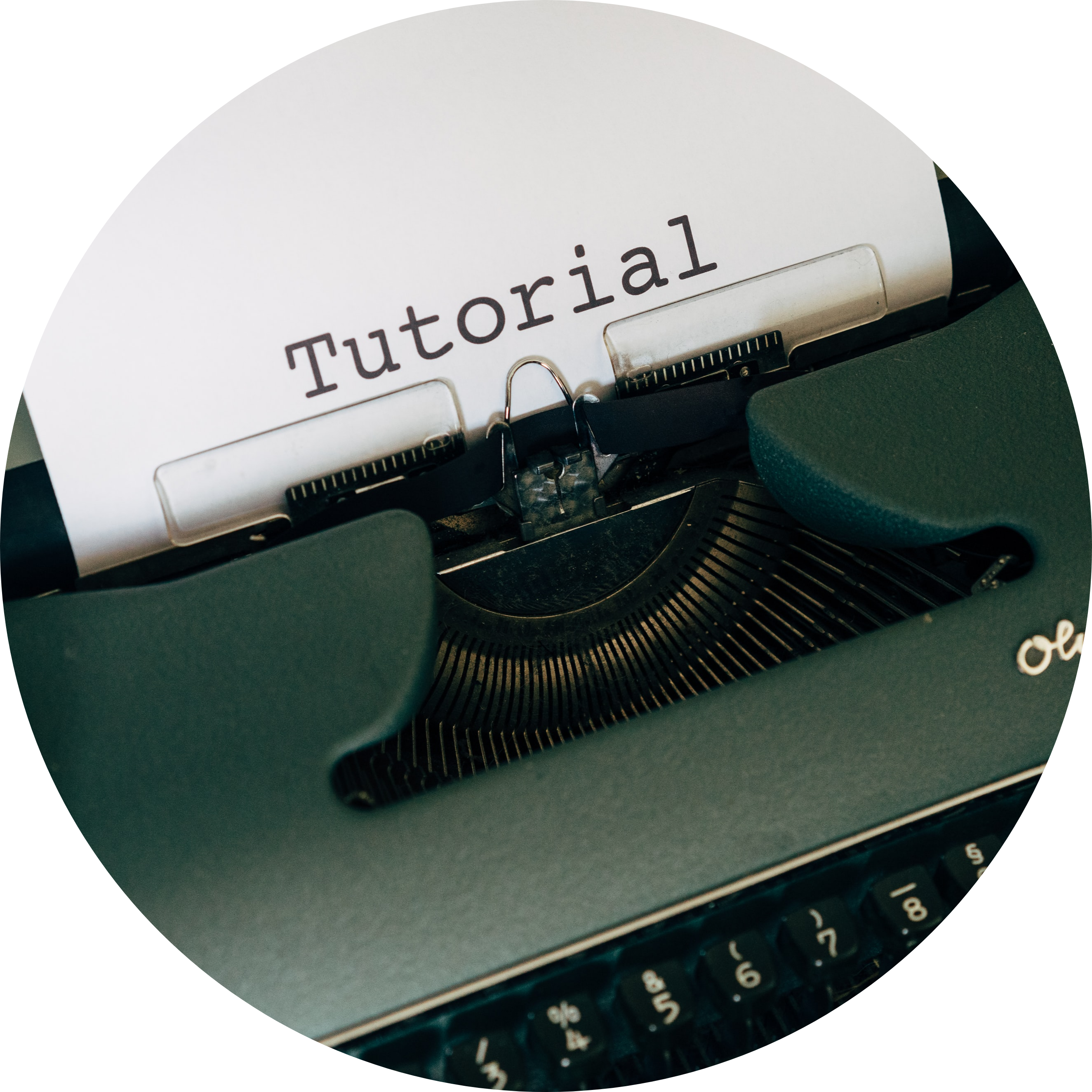Image of typewriter typing tutorial